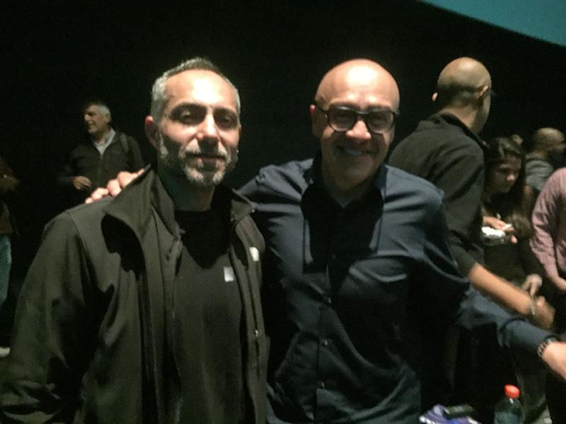 Roberto Muñoz junto a Martín Hernández.