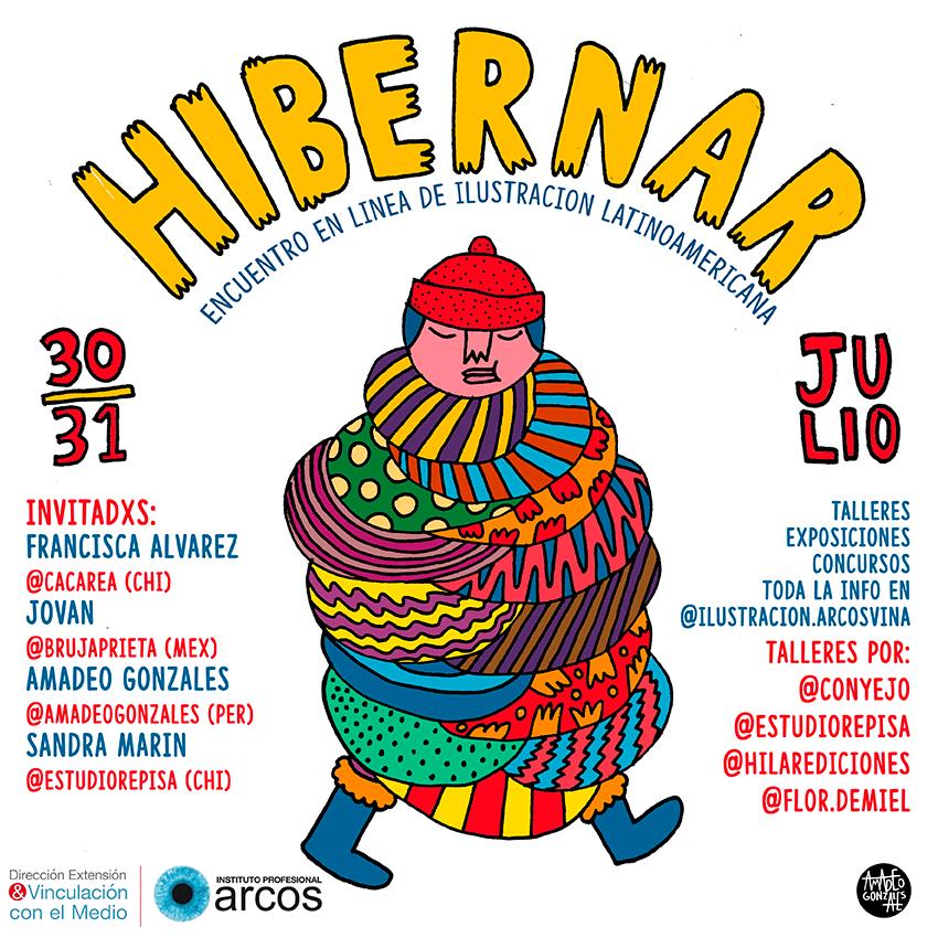 Hibernar: encuentro en línea de Ilustración Latinoamericana